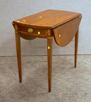 Councill Federalstyle Inlaid Mahogany and Mahogany Veneer Pembroke Table and Councill Federalstyle Mahogany P