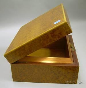 Dunhill Burl Veneer Lidded Cigar Box