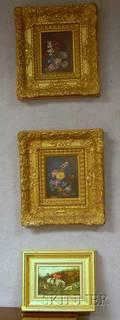 Three Framed Oil on Panel Paintings