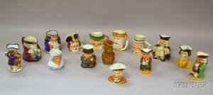 Fifteen Assorted Ceramic Toby Jugs and Character Jugs