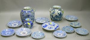 Group of Underglaze BlueWhite Chinese Porcelain