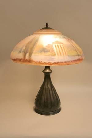 Pairpoint Reverse Painted Chipped Ice Lamp