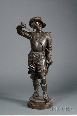 Large French Bronze Figure of a Cavalier Don Cesar