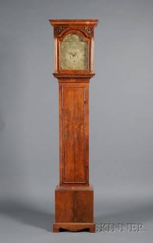 George II Walnut Tall Case Clock