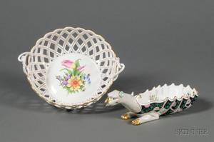 Two Herend Porcelain Dishes