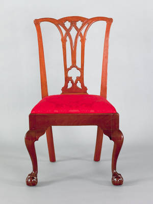 Philadelphia Chippendale carved mahogany side chair late 18th c