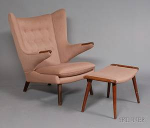 Hans Wegner 19142007 Papa Bear Chair with Ottoman