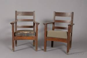 Pair of Arts and Crafts Lifetime Chairs