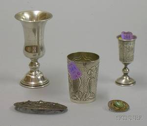 Group of Sterling Silver and Silver Plated Table and Personal Items