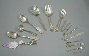 Approximately Fourteen Sterling Silver Serving Pieces