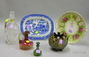Group of Assorted Art Glass and Decorated Ceramic Articles