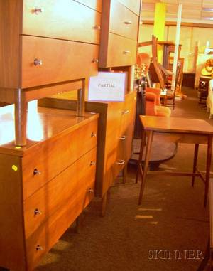 Five Pieces of Paul McCobb Planner GroupWinchendon Furniture Bedroom Furniture and a Pair of Similar ThreeDrawer Chests