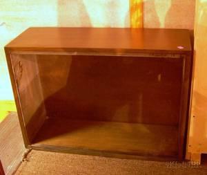 Midcentury Modern Mahogany Veneer Open Cabinet