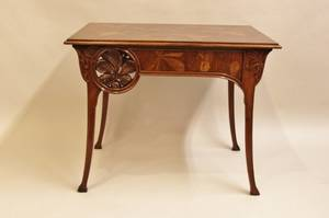 Late 19thE 20th CFrench Art Nouveau Table
