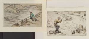 Henry Wilkinson British 20th Century Lot of Two Fishing Scenes Ready with the Net