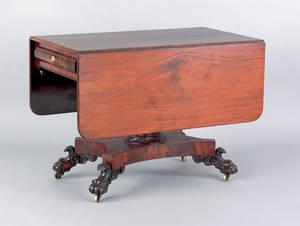 Philadelphia classical mahogany pembroke table ca 1825