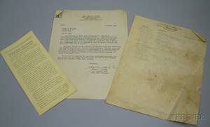 Two Wallace Nutting Related Documents and a Brochure