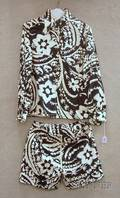 Chuck Howard Black and White Printed Cotton TwoPiece Outfit