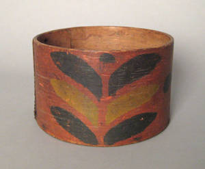 American painted oak and pine bentwood box 19th c