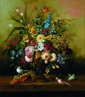 Jeannine Albert French b 1939 Floral Still Life