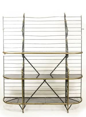 French Iron  Brass Bakers Rack or Etagere