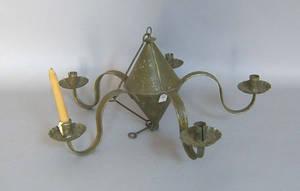 Reproduction tin fivearm chandelier