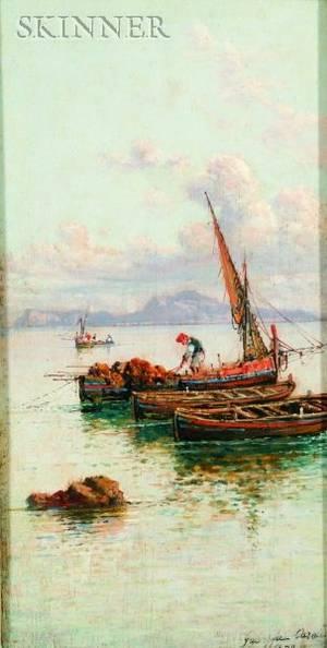 Giuseppe Carelli Italian 18581921 Off the Coast of Capri