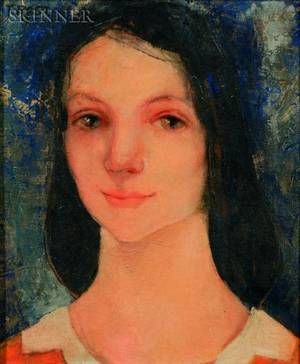 Thorbjorg Mrs TR Freeland Rostad NorwegianAmerican 20th Century Portrait of a Young Woman