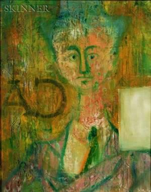 John Graham American 18811961 Modernist Portrait