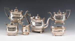 Philadelphia six piece silver tea service ca 1810