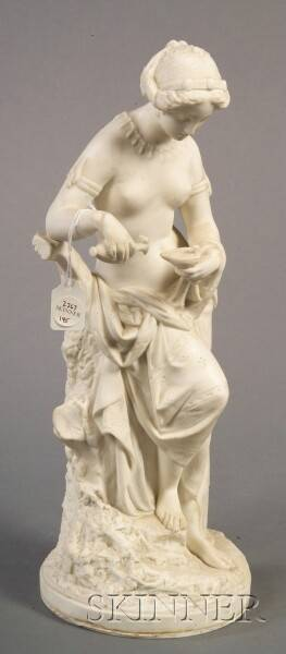 Minton Parian Figure of a Maiden
