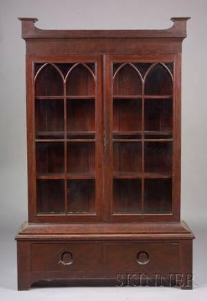 George III Style Mahogany Bookcase
