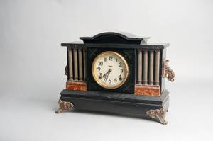 Ingraham ebonized mantle clock