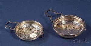 Two Georgian Silver Strainers