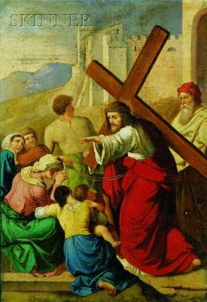 Continental School 19th Century Christ on the Road to Calvary