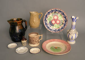 Miscellaneous pottery and porcelain to include Leeds