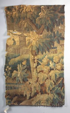 Brussels Wool Tapestry Panel Fragment