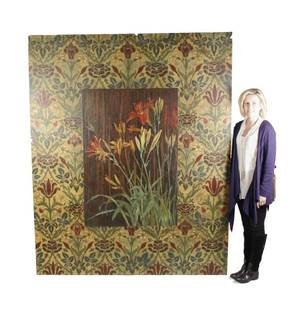 Large Rana Rochat Mixed Media on Canvas Day Lily