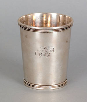 Cincinnati Ohio coin silver cup ca 1835