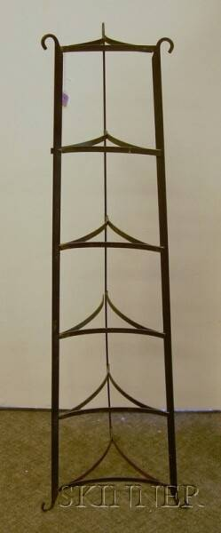 Wrought Iron Pan Rack