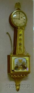 Mahoganycased Patent Timepiece or Banjo Clock