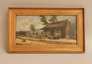 William Aiken Walker L 19th C Oil on Academy Board