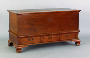 Lancaster County Pennsylvania Chippendale walnut blanket chest late 18th c
