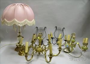 Five Assorted Decorative Lighting Items