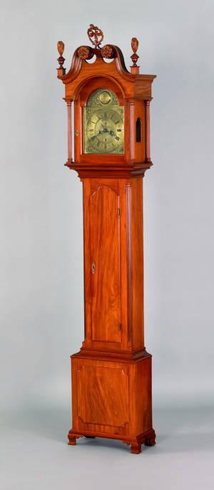 Philadelphia Chippendale mahogany tall case clock mid 18th c