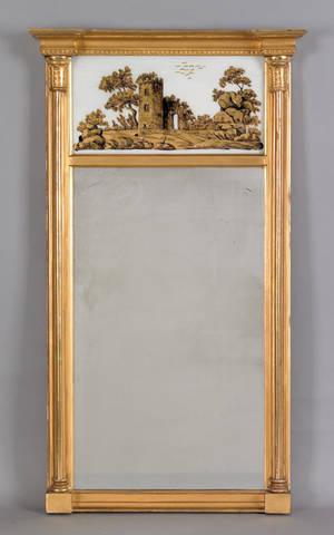 New York Federal giltwood mirror ca 1820