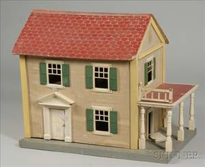 Schoenhut Doll House and Contents