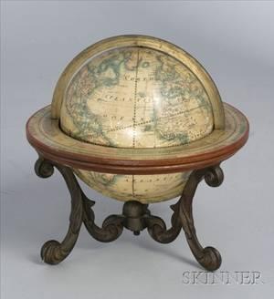 6inch American Terrestrial Globe by Merriam Moore  Co