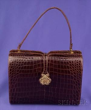 Brown Alligator Handbag Nettie Rosenstein