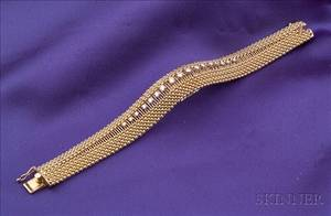 14kt Gold and Diamond Covered Wristwatch Omega